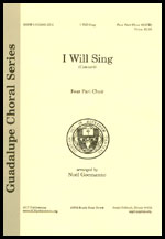 I Will Sing (Cantare') 4-part (SATB)